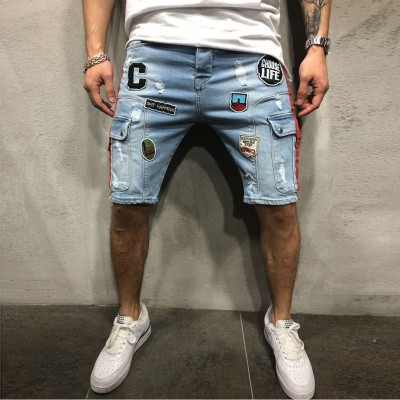 Bermuda Jeans Estampada com...