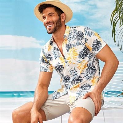 Camisa Social Florada Moda...