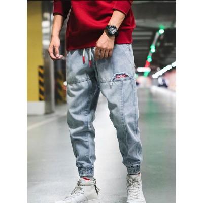 Calça Jeans Fino Jogger...