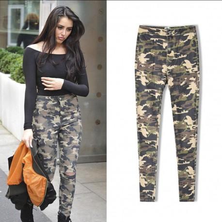 Calça Feminina Camuflada Militar Casual Fashion Inverno Mulheres Top's