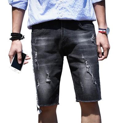 Bermuda Jeans Rasgado...